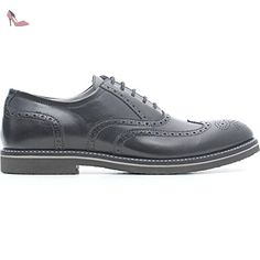 NERO GIARDINI CHAUSSURE LACETS HOMME CUIR P604120U-100 (44, Noir) -  Chaussures