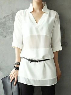 womens tops for sale Latest Fashion For Women, Womens Fashion, Large Women, Long Blouse, White Shirts, White Tops, Casual Outfits, Fashion Dresses, Tunic Tops