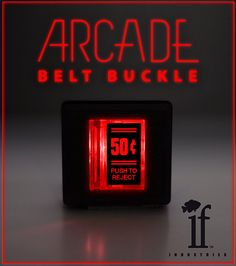 Arcade Belt Buckle... that lights up  50 Cent by ifindustries
