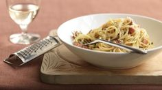 Try Rick Stein's recipe for a classic, creamy carbonara.