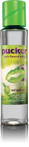 Apple Twist (mixed drink):  1 oz. Sour Apple Pucker Vodka  1 oz. Apple Pucker  Squirt or Sprite
