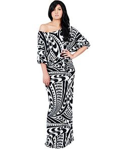 836979c927f2f Amazon.com  KOH KOH Plus Size Womens Long Flowy Printed One Shoulder 3 4  Short Sleeve Sexy Summer Casual Jersey Cute Print Gown Gowns Maxi Dress  Dresses