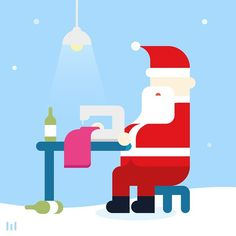 He is not everyone? Everyone is everyone. #graphic #illustration #pictogram #meanimize #santa #christmas #character