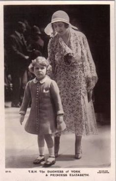 British royal family photos - elizabeth as duchess of york and princess elizabeth.jpg