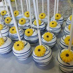 Bridal Shower Cake Pops #sunflowercakepops