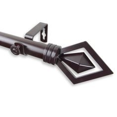 Lenore Single Curtain Rod and Hardware Set