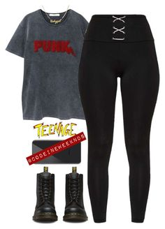 """""""Nov/15/17"""" by codeineweeknds ❤ liked on Polyvore featuring MANGO and Dr. Martens"""