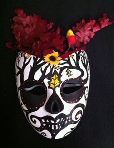 paper mache sugar skull mask by suzi linden
