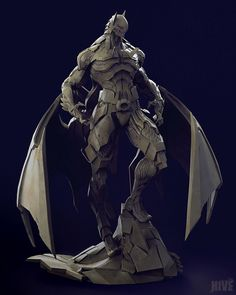 [image] Title: Bat Mech Name: Geng Gi Country: Thailand Software: ZBrush max Photoshop Submitted: August 2015 Hi, everyone This is my first model working with Studio Hive. Based on a concept by Skan Sris… Zbrush, Batman Kunst, Batman Art, Superman, Armor Concept, Concept Art, Comic Character, Character Concept, Batman Redesign
