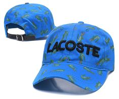 Men's / Women's Lacoste Full Croc Print Letter Embroidery Curved Dad Cap - Blue (Copy Ori) Adidas Baseball, Baseball Caps, Lacoste Store, Dad Caps, Nike Golf, Knit Beanie, Crocs, Knitted Hats, Air Jordans