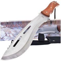 Frost Cutlery TR3134 Rosewood Sawback Bowie Knife | MooseCreekGear.com | Outdoor Gear — Worldwide Delivery! | Pocket Knives - Fixed Blade Knives - Folding Knives - Survival Gear - Tactical Gear