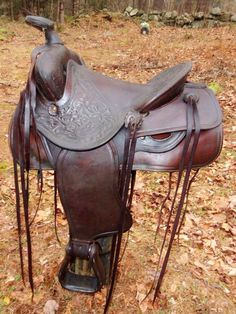 """VINTAGE 14.5"""" Western Trail Pleasure Saddle  Slickseat BONA ALLEN restored #BonaAllenCompany"""