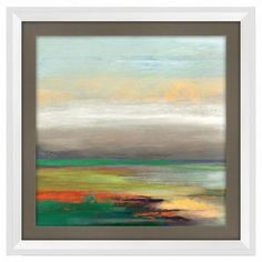 """Bring gallery-worthy style to your walls with this artful giclee print, showcasing an abstract motif for visual appeal.  Product: Giclee PrintConstruction Material: CanvasColor: White frameFeatures: Abstract motifDimensions: 15"""" H x 15"""" W"""