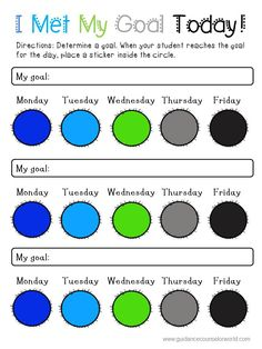 Use this colorful behavior contract/intervention to set goals and help students obtain their goals. Students will love the fun colors, helping to motivate them to use this intervention.