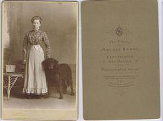 Lady with Large Pet Dog