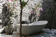 terrasse-bois-exotique-parement-piere-lave-baignoire-design