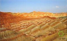 The Zhangye there Danxia landform