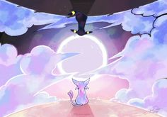 pokemon, umbreon, and espeon Bild