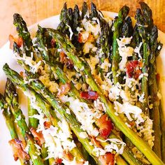 asiago bacon roasted asparagus