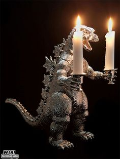 Godzilla - a scarey night light :)