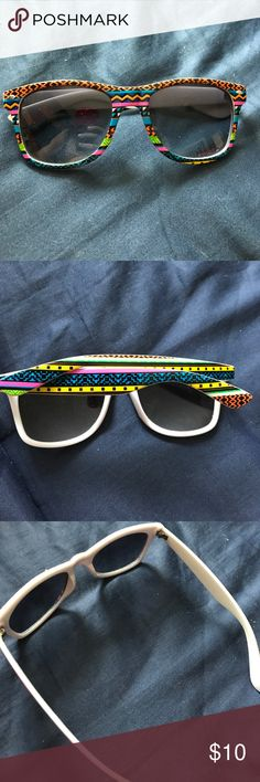 "Tribal Pattern Sunglasses 🕶 Tribal pattern• multicolor• ""ray ban"" design• Claire's Accessories Glasses"