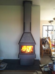 Contura 450T in Black finish installed by Dorking Stoves in Guildford area