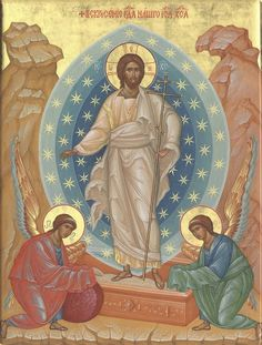 Christ is risen! Religious Images, Religious Icons, Religious Art, Christ Is Risen, Christ The King, Roman Church, Christian Artwork, Religious Paintings, Byzantine Icons
