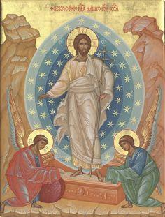 Christ is risen! Religious Icons, Religious Art, Religious Images, Life Of Christ, Christ The King, Roman Church, Christian Artwork, Christ Is Risen, Religious Paintings