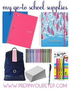 The Monogrammed Life: MY GO-TO SCHOOL SUPPLIES