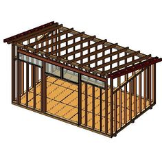 10x16 Modern Shed Plan Framing ViewhttpwwwDIYPlanscom
