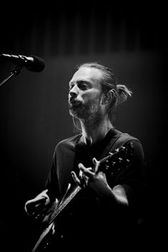 Thom Yorke of Radiohead performs on stage at Ziggo Dome on October 14 2012 in…