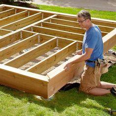 ground level deck ideas - Google Search