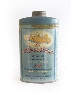 antique french talc tin