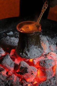 Turkish Coffee -Türk Kahvesi....Mangal ateşinde...: ㊙️More Pins Like This At FOSTERGINGER @ Pinterest ㊙️