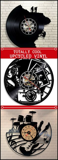 Oh my word!  My hands literally started shaking with excitement when I discovered these one-of-a-kind upcycled vinyl record clocks. What incredibly unique gift ideas! Christmas Gift For Music Lovers, Men, Women, Outdoorsman, Entire Family, Customers. Hundreds of styles to choose from. #Vinylrecord #Upcycle #Giftideas #Christmas #Clocks #affiliate