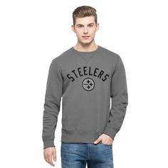 Men's Pittsburgh Steelers '47 Brand Black Stealth Camo Soft Washed Sweatshirt