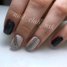 Bio Gel Nails, Gel Nail Art, Nail Manicure, Nail Polish, Gorgeous Nails, Love Nails, Pretty Nails, Black Nail Designs, Short Nail Designs