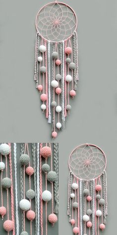 New baby room diy crafts dream catchers Ideas, Diy Abschnitt, dream catcher tutorial step by step easy New baby room diy crafts dream catchers Ideas, Diy Dream Catcher For Kids, Dream Catcher Craft, Dream Catcher Boho, Making Dream Catchers, Baby Girl Room Decor, Baby Nursery Diy, Baby Room Diy, Baby Decor, Baby Rooms