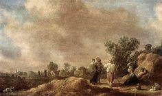 Jan van Goyen : Haymaking (Pushkin Museum) 1596-1656 ヤン・ファン・ホーイェン