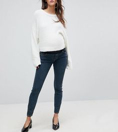 #Valentines #AdoreWe #ASOS - #ASOS Maternity ASOS MATERNITY RIDLEY High Waist Skinny Jeans in Nanette Darkwash Blue with Under the Bump Waistband - Blue - AdoreWe.com