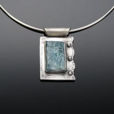 'Water of the Sea' Aquamarine and Sterling Silver Pendant Aquamarine is a powerful stone for cleansing the emotional and for opening communication. It is said that it helps one to realize and understand emotional patterns with its gentle energy.