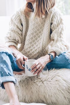 chunky knits and boyfriend jeans