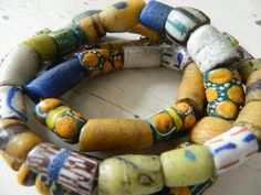 Antique African Tribal Trade Bead Necklace by SuzieWheatVintage, £82.00
