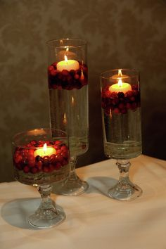 Cranberry centerpiece for the rehearsal dinner?