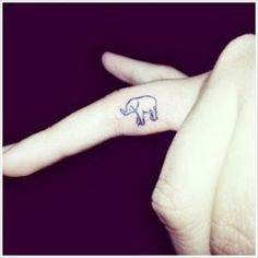 I've always wanted a little elephant tattoo :) Elephant Finger Tattoo, Finger Rose Tattoo, Elephant Tattoo Design, Elephant Tattoos, Ring Finger, Inside Finger Tattoos, Star Tattoos, New Tattoos, Cool Tattoos