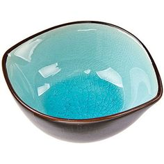 """Turquoise Blue Oval Ceramic Sauce Dish.  4.5"""" x 3.75"""" x 1.5"""" H. Traditionally these dishes are used for soy sauce and other condiments, but they also make great vessels for jewelry, keepsakes, candles, floating flower arrangements and more. Crackle-glazed Stoneware. Microwave Safe. Handwash."""