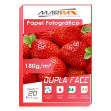 Papel Foto Glossy Paper Dupla Face 180g/m² A4