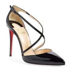 Pre-owned Christian Louboutin Silk Half D\u0026#39;orsay Pointed Pleated ...
