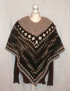 Crochet Grannysquare Look Fashion  PONCHO Size by CrochetRagRug