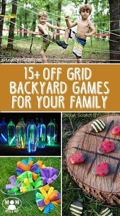 10 Off-Grid Backyard Games to Play with Your Family // Mom with a PREP - Fun is necessary to relieve stress during periods of extreme anxiety. Off Grid, Cabin Activities, Summer Activities, Family Activities, Children Activities, Outdoor Games, Outdoor Fun, Outdoor Activities, Outdoor Swings